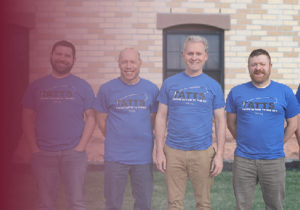 """Continental Mapping staff wear """"Taking Autism to the Sky"""" T-shirts in Sun Prairie, WI"""
