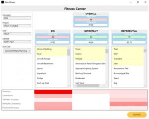 Screenshot of Continental Mapping's Fitness Center