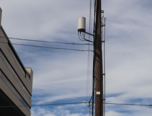 5G small cell attached to a utility pole