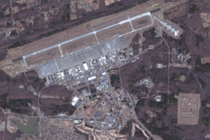 Satellite imagery of air force base