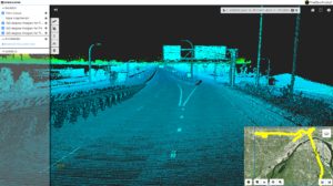 Lidar and imagery collected for the BETIA project as viewed through TheGeoAnalyst web-based viewer.