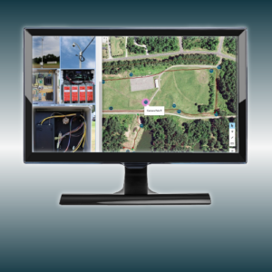 computer screen with SiteScene software running on monitor