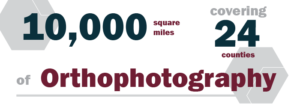 """Quote: """"10,000 square miles, covering 24 counties of orthophotography"""""""