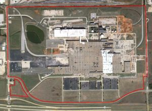 Aerial imagery of General Motors factory