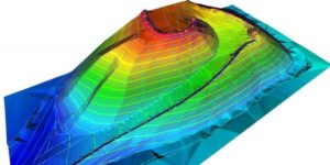 3D model of a hill derived from lidar point cloud