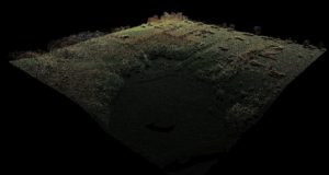 Lidar point cloud in Antrim County, Michigan