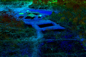 Lidar point cloud visualizing fish hatchery in Cleveland, OH.